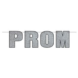 12 Wholesale Prom Streamer Glitter Print; Assembly Required