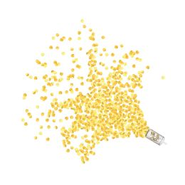 12 Wholesale Push Up Confetti Poppers Gold
