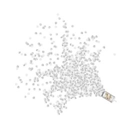 12 Wholesale Push Up Confetti Poppers Silver