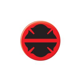 6 Wholesale Firefighter Maltese Silhouette Button