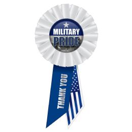 6 Units of Military Pride Rosette - Bows & Ribbons