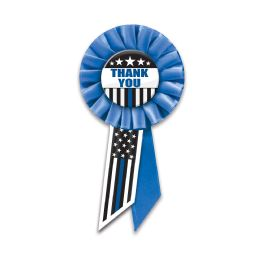 6 Units of Thank You Law Enforcement Rosette - Bows & Ribbons