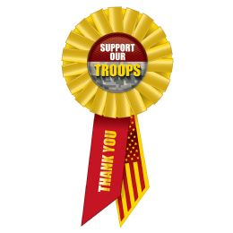 6 Wholesale Support Our Troops Rosette