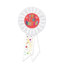 6 Units of Yay! It's My Birthday Rosette - Bows & Ribbons