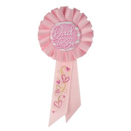 6 Wholesale Dad To Be Rosette Pink