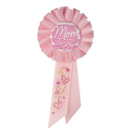6 Wholesale Mom To Be Rosette Pink