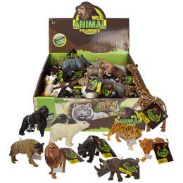 36 Wholesale Wild Animal Figures Plstc 12ast Ht/36pc Pdq Dump Display