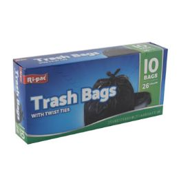 24 Units of Trash Bags 10ct - 26 Gallon - Garbage & Storage Bags