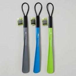 48 Units of Shoe Horn Plastic W/loop 3ast - Footwear Accessories