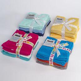 48 Units of Wash Cloths 6pk 12x12 Random - Cleaning Supplies