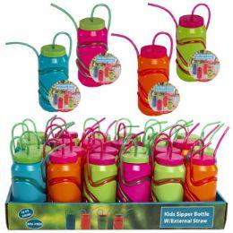 24 Units of Sipper Bottle Kids W/external - Drinking Water Bottle