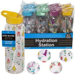 12 Units of Water Bottle Kids 27oz Plastic - Drinking Water Bottle