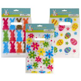 48 of Loot Bag Zipper 10ct Pe W/handle 3ast Easter Print To/from Pbh