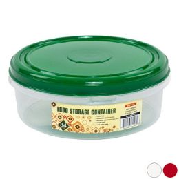 48 Units of Cookie Container Round 2.4l 3 Color Lids -Clear Bottom - Baking Supplies