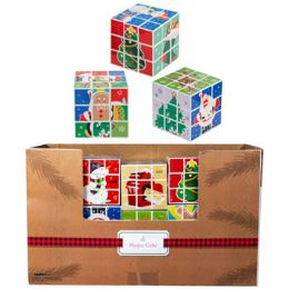 30 Units of Magic Cube Christmas 2ast 2.75in 30pc Pdq/shrink Wrap Labl - Christmas