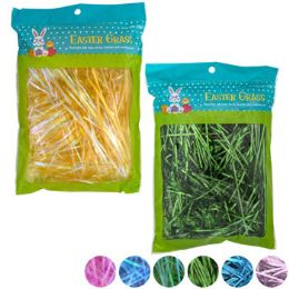 24 of Easter Grass 7asst Holographic/ Iridescent 1oz Easter Polybag
