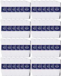 48 Bulk Yacht & Smith Mens Lightweight Cotton Crew Socks In Bulk, White Size 10-13