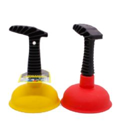 72 Units of Plastic Sink Plunger Assorted Colors - Plumbing Supplies