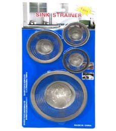 72 Units of 4 Piece Strainer Set - Plumbing Supplies