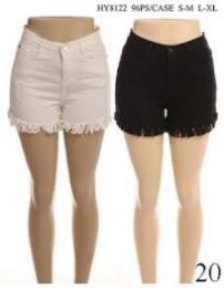 24 of Women's Fashion Solid Color Shorts With Button In Assorted Two Colors