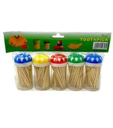 144 Units of 5 Pack Toothpicks - Toothpicks