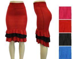 48 Units of Womens Fashion Ruffled Mermaid Skirt - Womens Skirts
