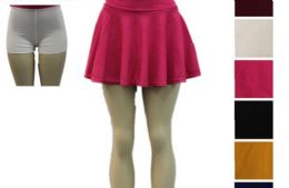 48 Units of Women Tennis Skirts Inner Shorts Elastic - Womens Skirts
