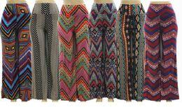 36 Units of Women High Waist Printed Palazzo Pants - Womens Pants