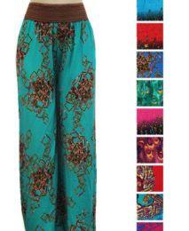60 Units of Women High Waist Printed Palazzo Pants - Womens Pants