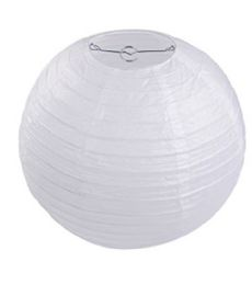 96 of 8 Inch Paper Lantern White