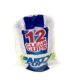 96 Wholesale 12 Piece 9 Oz Clear Party Cups