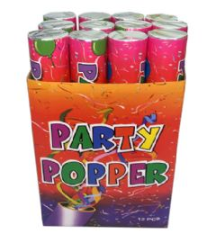 96 Wholesale 12 In 1 Party Popper 30 Cm Display