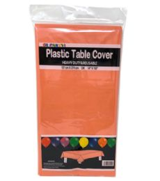 96 Units of Table Cover Orange 54x108 - Table Cloth