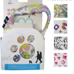 24 Units of Retractable Pet Leash Assorted Print - Pet Collars and Leashes