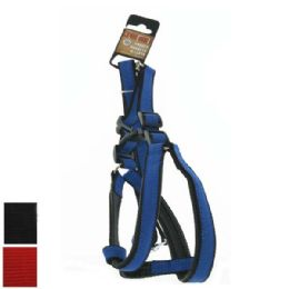 24 Units of Dog Harness And Leash Set Small Assorted Colors - Pet Collars and Leashes
