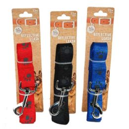 96 Units of Leash Paws Large 72 Inch Assorted Color - Pet Collars and Leashes