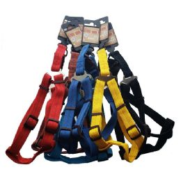 48 Units of Harness Medium Size Bright Colors - Pet Collars and Leashes