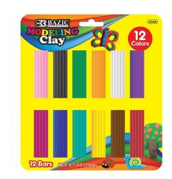 24 Units of Modeling Clay Bar 12 Colors 230 Grams - Clay & Play Dough