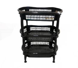 6 Units of 3 Level Oval Vegetable Rack In Black - Buckets & Basins