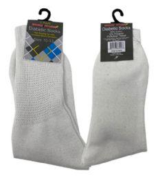 120 Units of 1 Pair Diabetic Sock In White Size 10-13 - Diabetic Socks