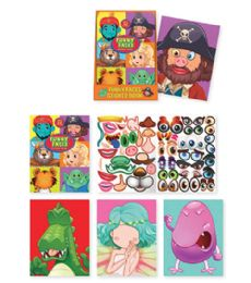 72 Units of Funny Face Sticker Activities - Coloring & Activity Books