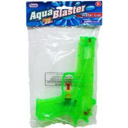 """48 Units of 7.25"""" Water Gun In Poly Bag W/ Header, 3 Assrt Clrs - Water Guns"""