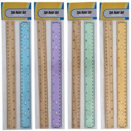 72 Units of Ruler 2pk Plastic/wooden - Rulers
