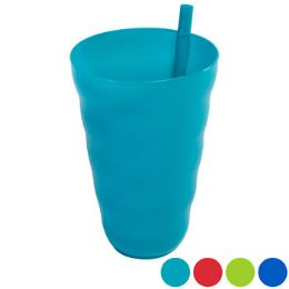 36 Units of Tumbler 2pk W/built In Straw Plastic 20oz 2ast Clr Combos - Kitchen & Dining