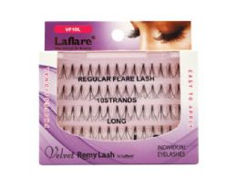 72 Bulk Laflare Velvet Remy 10 Strand Long Individual Eyelashes