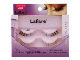 72 Bulk Laflare Vu1d 100% Human Hair Velvet Remy Double Lower Eyelashes
