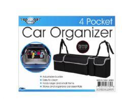 6 Units of 35 In X 10 In 4-Pocket Car Trunk Organizer - Auto Accessories
