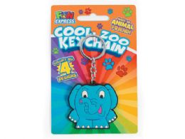 144 Wholesale Cool Zoo Animal Keychain In Assorted Animals