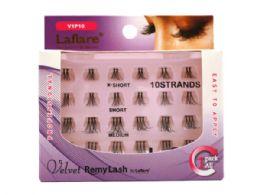 72 Bulk Laflare Velvet Remy 10 Strand Eyelashes