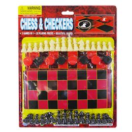 36 Bulk 2-IN-1 Chess And Checkers Game